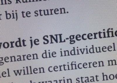 Begeleiden SNL-certificering